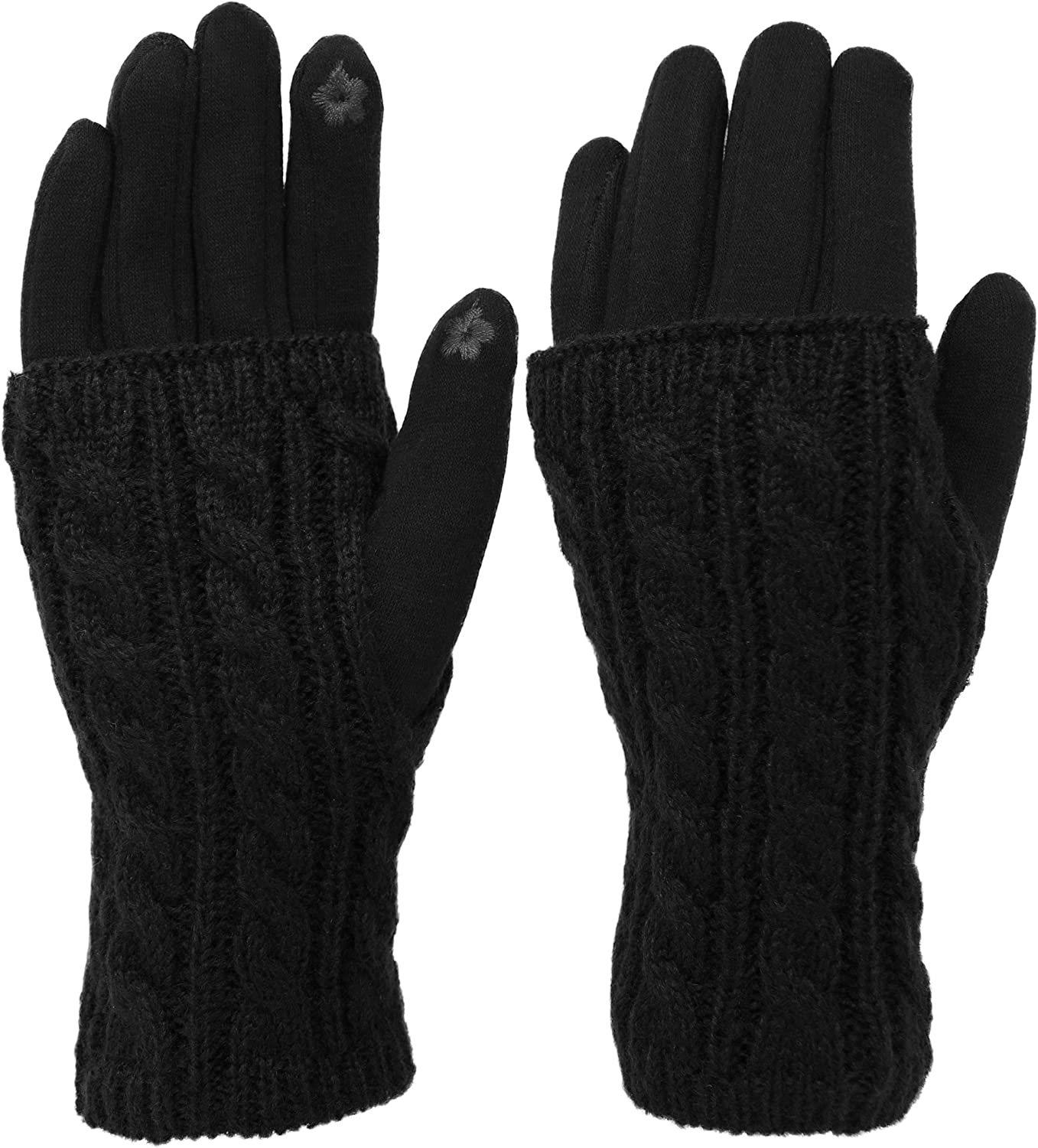 KMystic Women's Texting Gloves and Hand Warmer Set
