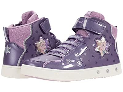 Geox Kids Skylin 7 (Little Kid/Big Kid) (Dark Violet/Mauve) Girl