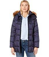 Box Quilted Shine Puffer Jacket