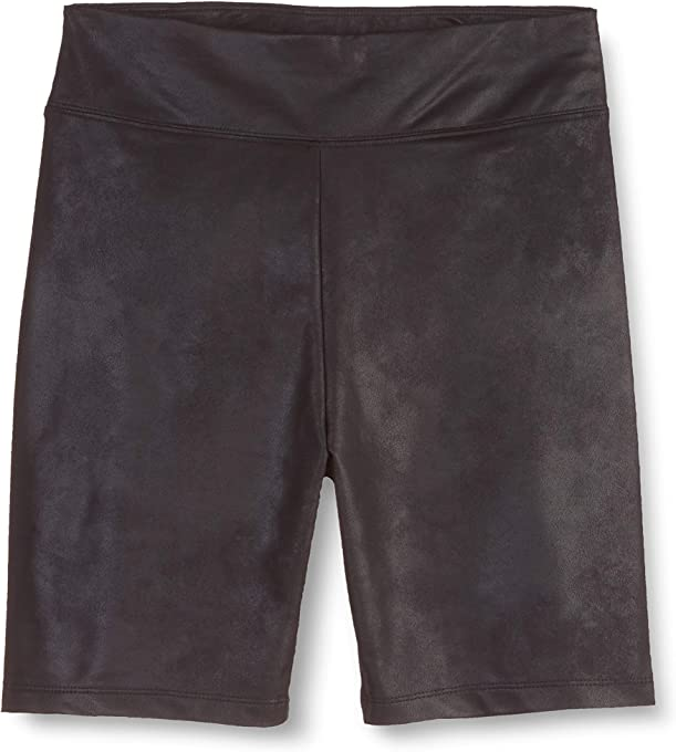 The Drop Women's Jackie Fitted Leather Look Bike Short
