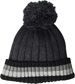 Chunky Global Stripe Pom Hat