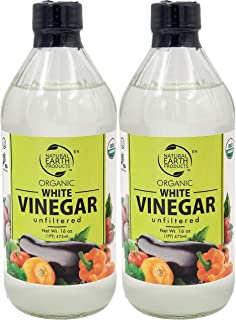 Organic White Vinegar, Unfiltered, And Unpasteurized, Perfect for Cleaning Purposes and Cooking 16 Oz (2-Pack, Total of 32...