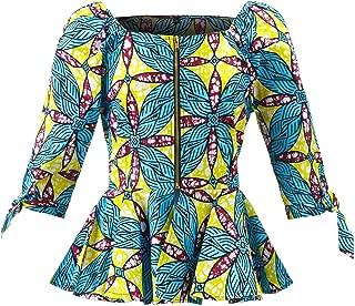 Women African Print Top Ankara Off Shoulder Shirt