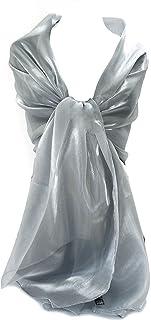 GFM schimmernd, irisierend Schal für Abend, Hochzeit, Partys, Brautjungfern, Brautmode oder Braut oder Ball Proms