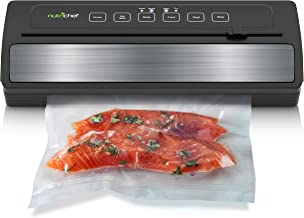 NutriChef Upgraded Vacuum Sealer | Automatic Vacuum Air Sealing System For Food Preservation w/ Starter Kit | Compact Design | Lab Tested | Dry & Moist Food Mode, Built-in Bag Cutter, 2018 Model
