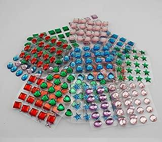 Tytroy Multi Color Self Adhesive Craft Jewels Flat Back Rhinestone Stickers Crystal Gems (500 pcs)