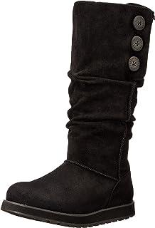 حذاء برقبة طويلة للنساء من سكيتشرز كيبساكس كبير بزر واسع