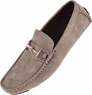 913c83ab22907 Amali Mens Plush Microfiber Faux Suede Slip On Loafer Driving Shoe with  Buckle Style Walken