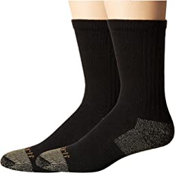 Carhartt - All-Season Steel Toe Cotton Crew Work Socks 2-Pack