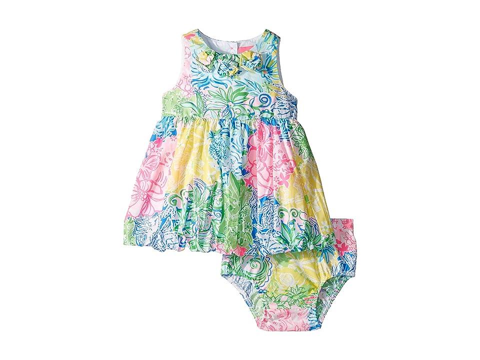 Lilly Pulitzer Kids Baby Britta Bubble Dress (Infant) (Multi Cheek To Cheek) Girl
