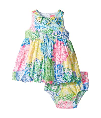 Lilly Pulitzer Kids Baby Britta Bubble Dress (Infant) (Multi Cheek To Cheek) Girl