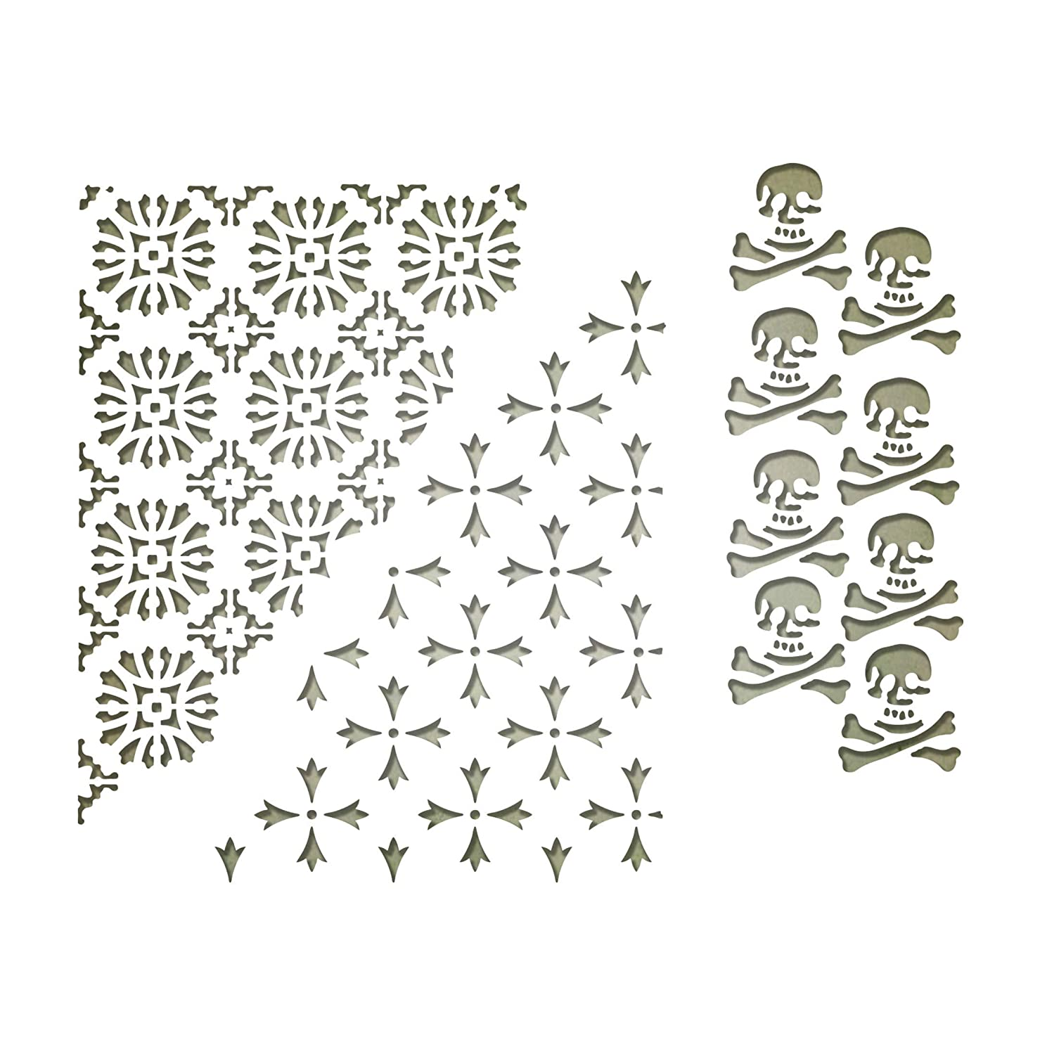 Sizzix 663089 Thinlits Dies Mixed Media Halloween #2 by Tim Holtz, 3-Pack, us:one Size, Multicolor