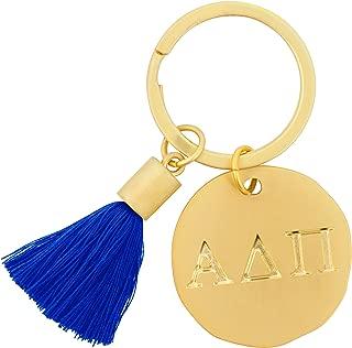 Alexandra And Company Round Tassel Keychain, Alpha Delta Pi