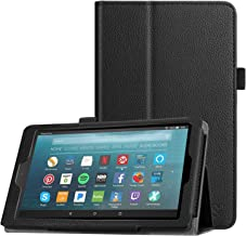 Fintie Folio Case for All-New Amazon Fire 7 Tablet (9th Generation, 2019 Release) - Slim Fit PU Leather Standing Protective Cover with Auto Wake/Sleep, Black
