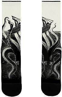 What's Kraken White US Size 7-13 Socks by LookHUMAN