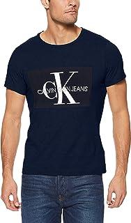 CALVIN KLEIN Jeans Men's Core Monogram Box Logo Slim Fit T-Shirt