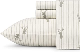 Eddie Bauer Flannel Sheet Set, Queen, Deer Lodge