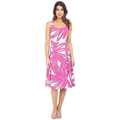 Donna Morgan Pique Knit Sleeveless Scoop Midi Dress (Enamel/Flux) Women