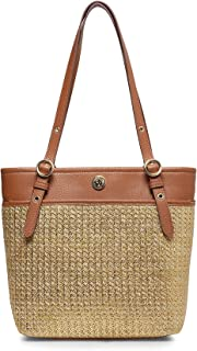 Straw Pocket Tote