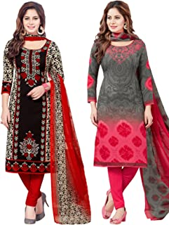 Salwar Studio Women's Pack of 2 Synthetic Unstitched Dress Material Combo-MONSOON-2158-2169