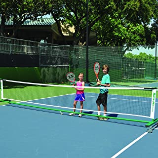 Oncourt Offcourt Portable Roll-a-Net – for Tennis or Badminton/Indoor & Outdoor/Locking Wheels