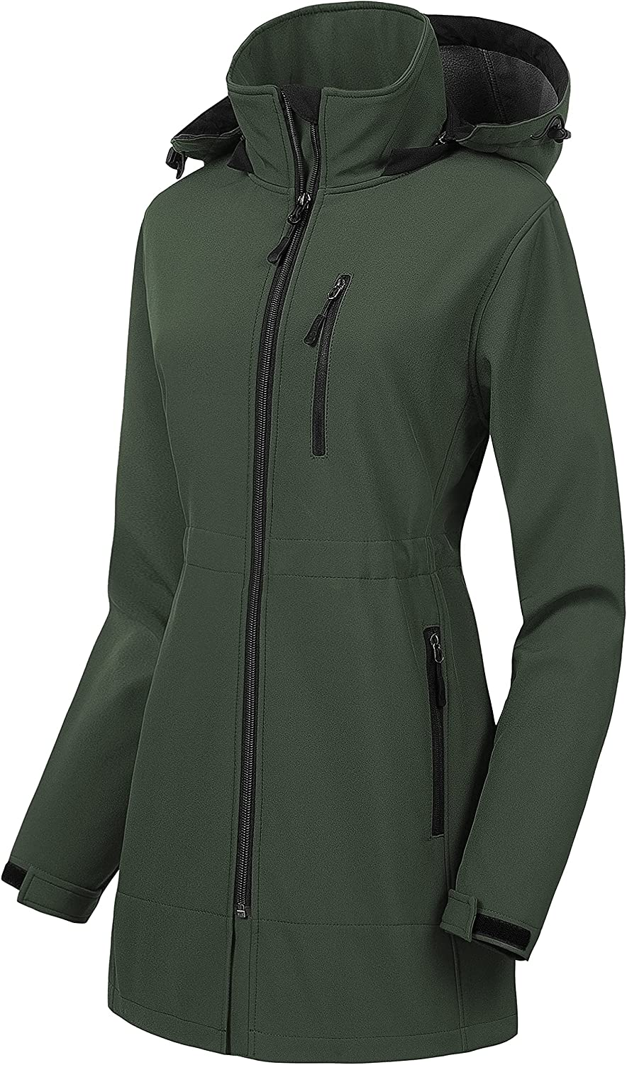 CREATMO US Super Free shipping on posting reviews sale Women's Lightweight Softshell Waterproof Tactica Long