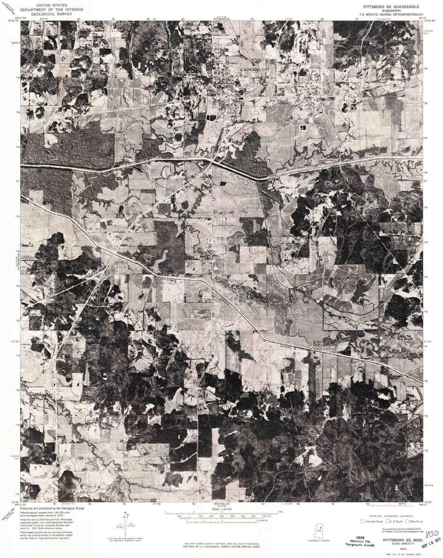 YellowMaps Atlanta Mall Pittsboro SE MS topo map Scale X Manufacturer OFFicial shop 7.5 1:24000 Mi