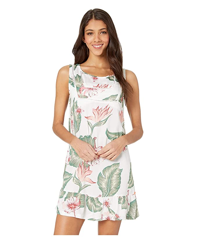 Roxy All About The Sea Cover-Up Dress (Bright White Tropical Love) Women