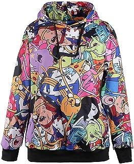 Multiple Fashion Digital Print Casual Pocket Hoodies Sweatshirt