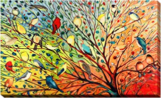 Picture Perfect International Giclee Stretched Wall Art by Jennifer Lommers 27 Birds Artists-Canvas, 28