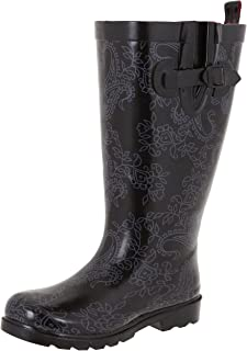 Capelli New York Ladies Shiny Tall Rubber Rain Boots