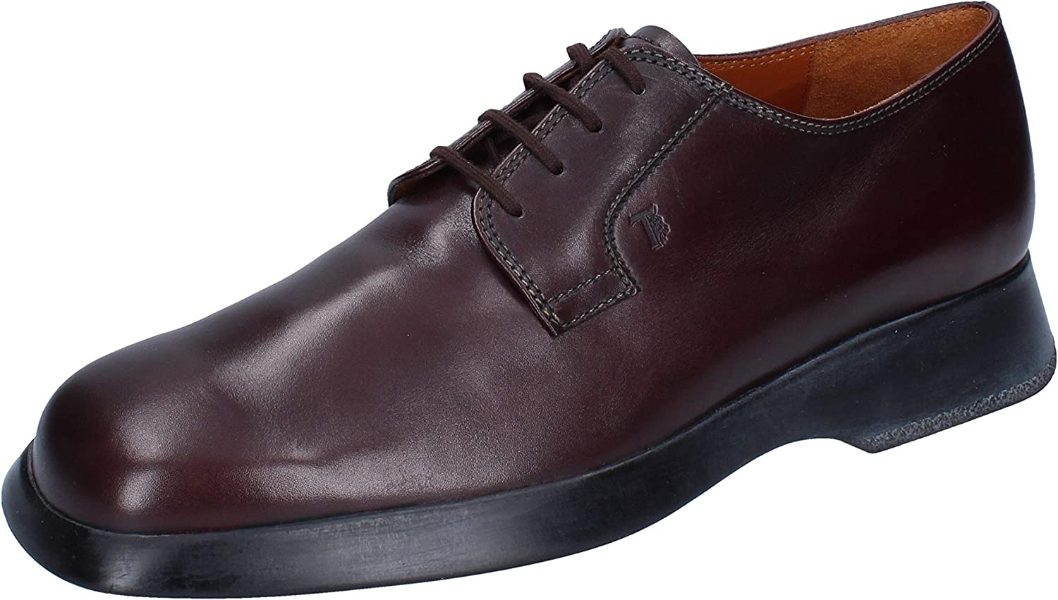 Tod's Oxfords-Shoes Mens Leather Purple