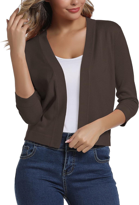 Urban CoCo San Diego Mall Women's San Jose Mall 3 4 Sleeve Elegant Sweater Cardigan S Cropped