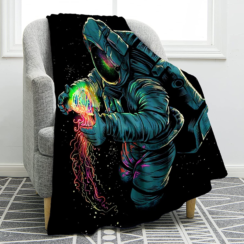 Genuine Jekeno Astronaut Blanket Outer Space Art List price Throw Print Sof