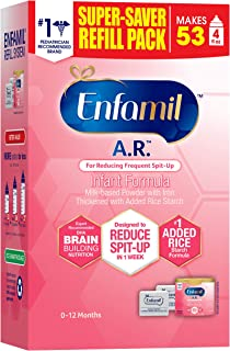 Enfamil A.R. Infant Formula - Clinically Proven to Reduce Spit-Up in 1 week - Refill Pack 32.2 oz Omega 3 DHA & Iron, Thic...