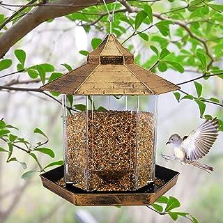 Hanging Wild Bird Feeder Gazebo Birdfeeder Outside Decoration -Perfect for Attracting Birds on Outdoor Garden Yard for Bir...