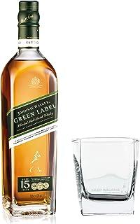 Johnnie Walker Green Label Set mit Tumbler Glas, Blended Whisky, 15 Jahre, Scotch, Alkohol, Flasche, 43%, 700 ml