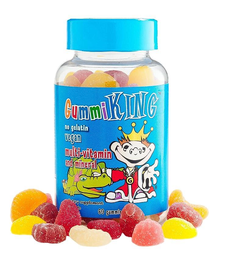 恐怖症医薬品簡略化するGummi King Multivitamin and Mineral Supplement, Strawberry/Lemon/Orange/Grape/Cherry/Grapefruit, 60 Count by Gummi King