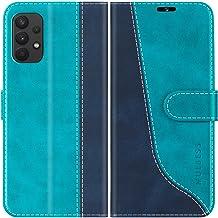 Hancda Brieftasche H/ülle f/ür Samsung Galaxy A21 Handyh/ülle Tasche Flip Case Leder Klapph/ülle Geldb/örse mit Kartenfach Rei/ßverschluss Magnet Wallet Cover Handytasche f/ür Samsung Galaxy A21,Blau