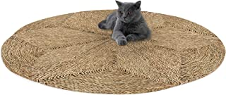 Made Terra Round Woven Area Rug for Living Room Bedroom Floor Mat Braided Anti-Slip Foldable Natural Fiber Seagrass Wicker...