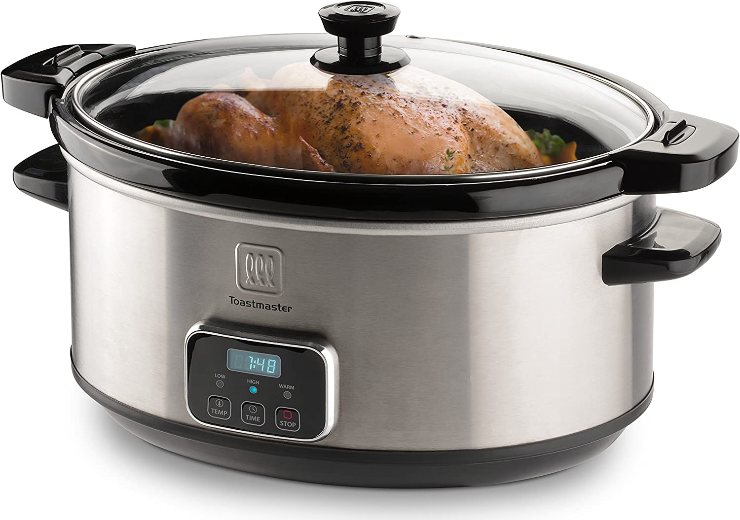 Toastmaster 7-Quart Oval Digital Slow Cooker with Locking Lid