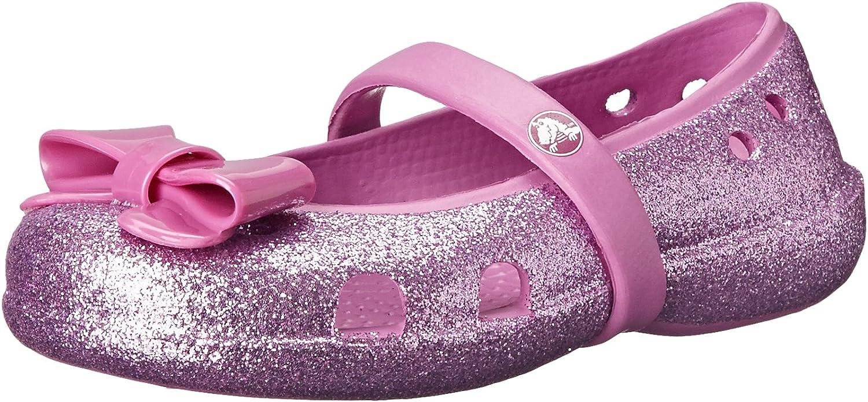 Crocs Girls' Keeley Hi-Glitter Bow Flat PS