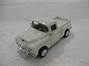 1/32 Scale 1955 Chevy Stepside Pick-up Truck Metal Diecast Model Collection Pull Back Action Kinsmart White