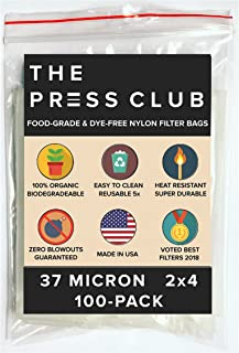 37 Micron | Premium Nylon Tea Filter Press Screen Bags | 2