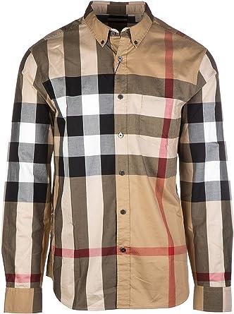 Burberry Brit Check Camisa de algodón con Botones para Hombre
