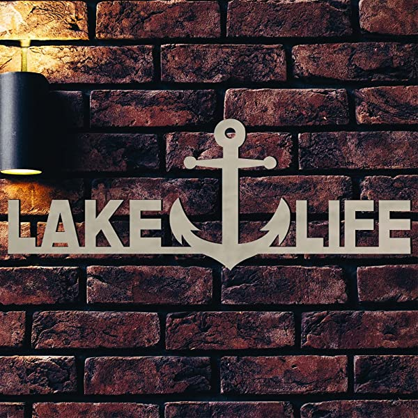 Gems On Display Lake Life Wood Sign Home D Cor Wall Art Unfinished 15 X 5 5 8