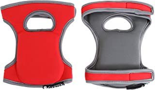 Comfortable Knee Pads for Scrubbing Floors, Gardening, Yoga & Construction - Kneeling - Multi-use and Light Neoprene Fabric - Color Red - Adaptable Straps - Men and Women - Stylish and Unique Design