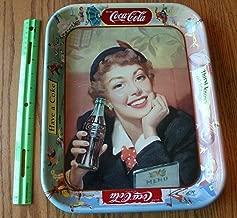 1953 COCA COLA Advertising MENU GIRL Serving TRAY Thirst Knows no Season For Vintage