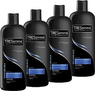 TRESemmé Shampoo Moisture Rich Vitamin E Luxurious Moisture, 4 x 390ml