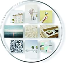 Umbra Infinity Picture Frame, Floating Photo Display for Desk or Wall, Multi, Chrome